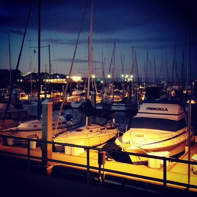 The lights right as darkness sets in... so beautiful! ♡♡♡♡♡♡♡♡ #travel #traveling #vacation #visiting #instatravel #instago #instagood #trip #holiday #photooftheday #fun #travelling #tourism #tourist #instapassport #instatraveling #mytravelgram #travelgram #travelingram #igtravel #monterey