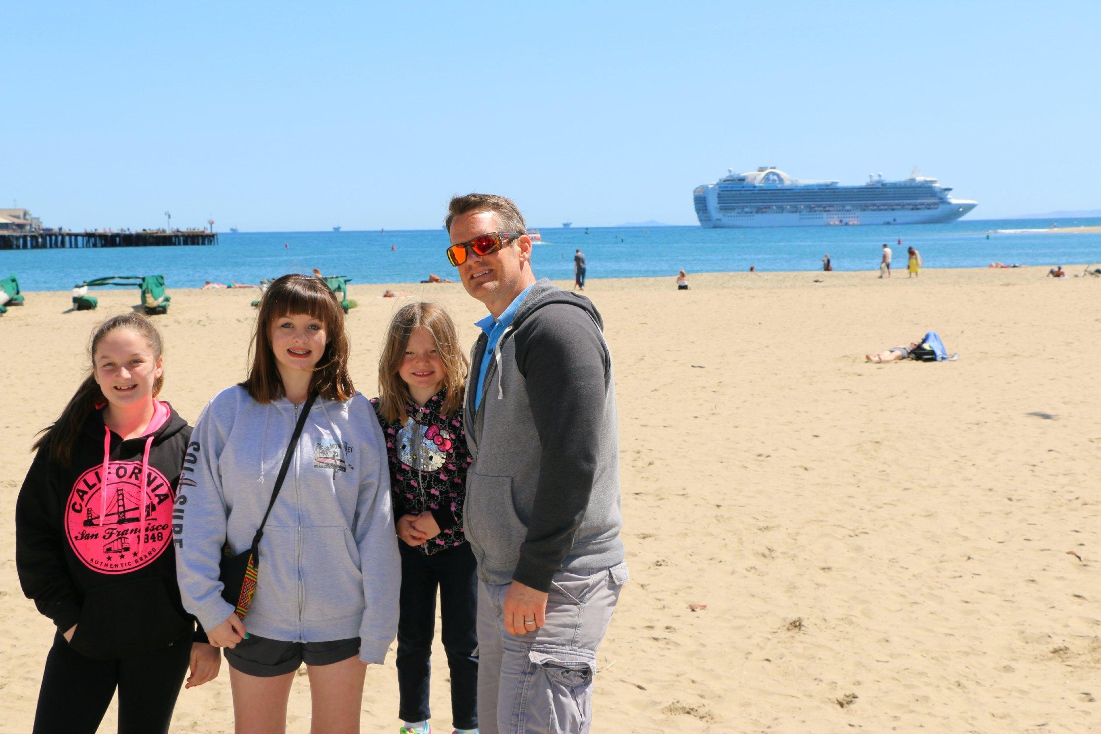 cruise ship in Santa Barbara