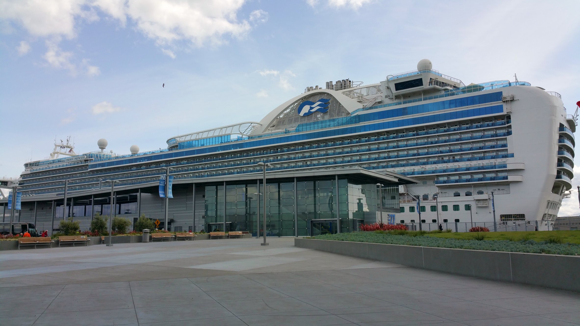 docked crown princess