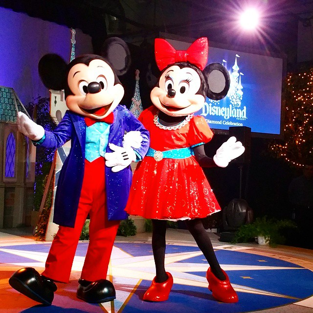Checking out an early look at these two's new 60th Anniversary sparkling look! The celebration starts May 22nd! #Disneyland60 #Disneyland #Disney