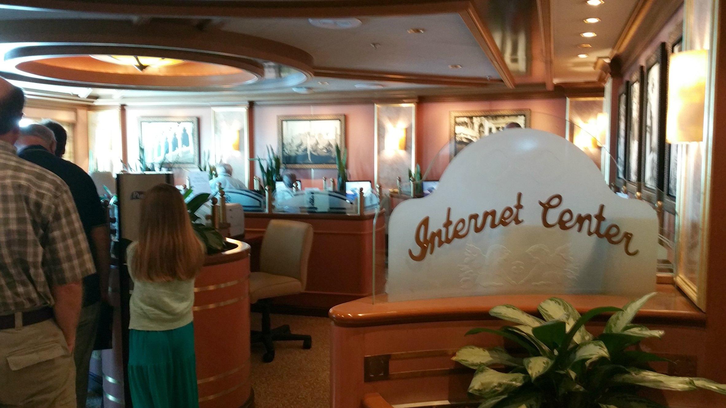 princess cruises internet cafe
