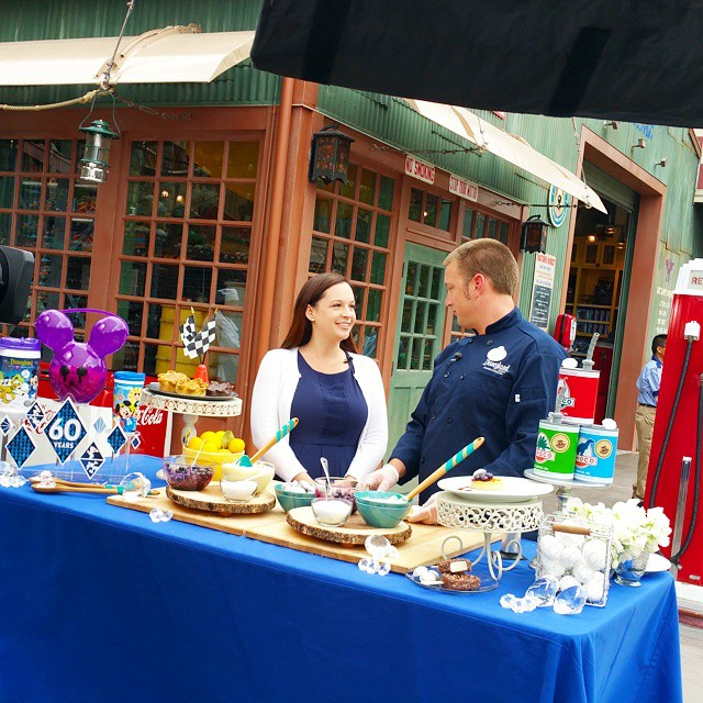 Learning to make delicious tarts... and of course talk all about Disneyland's 60th Diamond Celebration! #Disneyland60