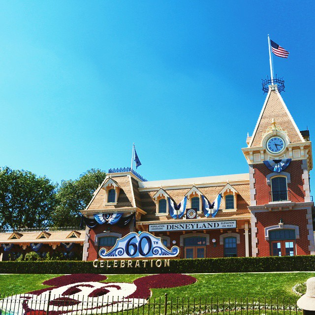 The decorations are up! This is going to be a magical year! #Disneyland60 #Disneyland #Disney #familytravel #travel