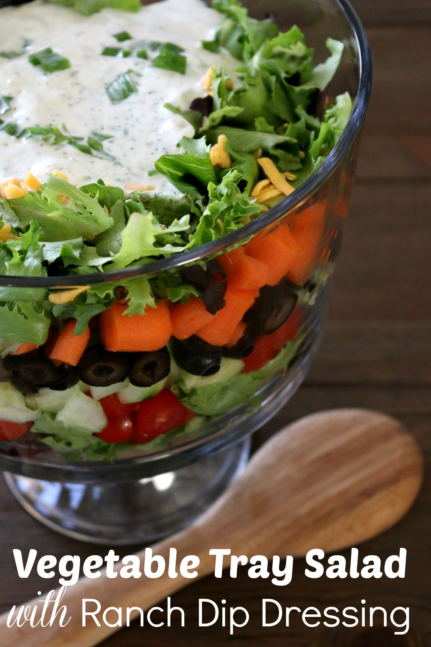 veggie salad with lowfat ranch dressing