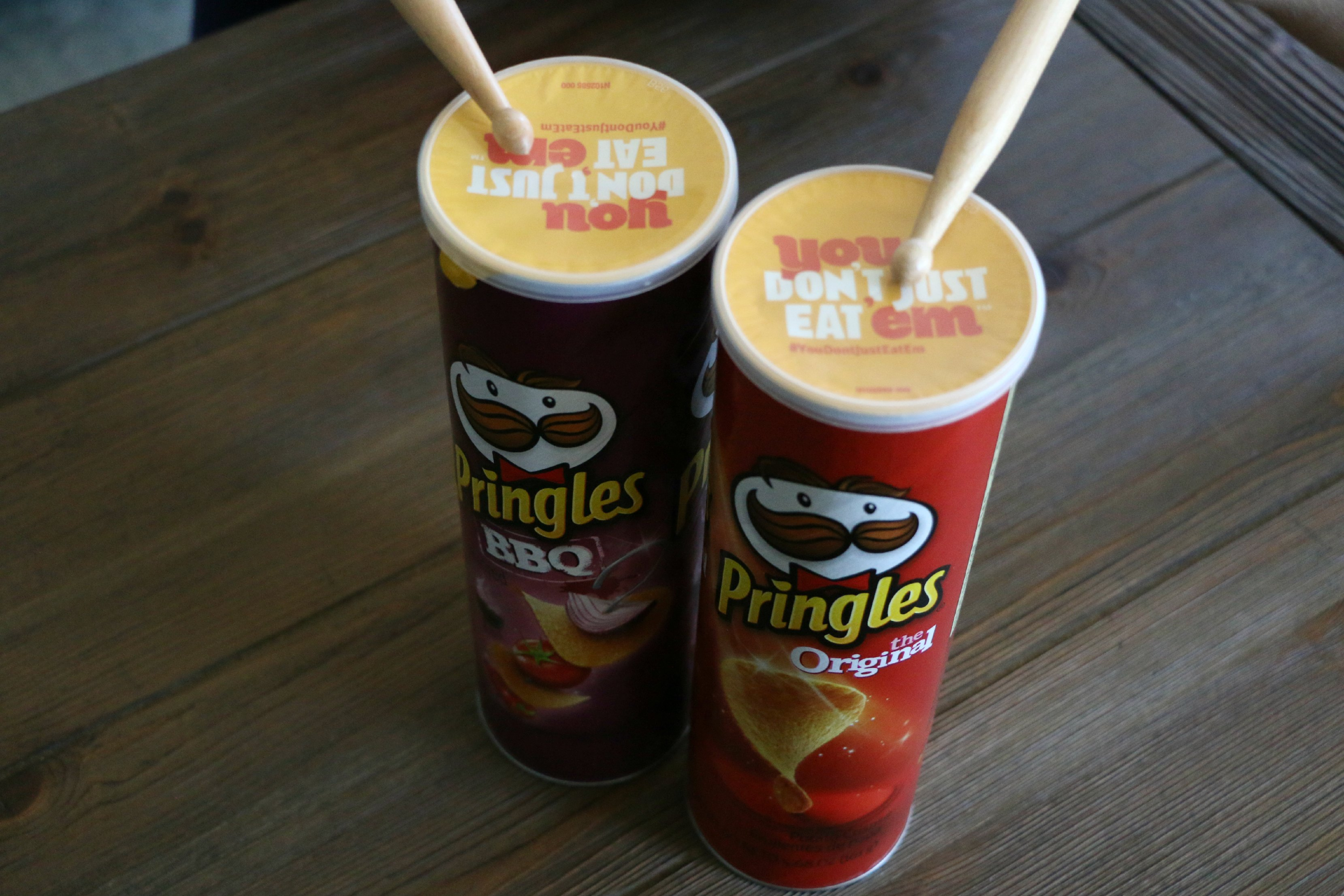 pringles can drums