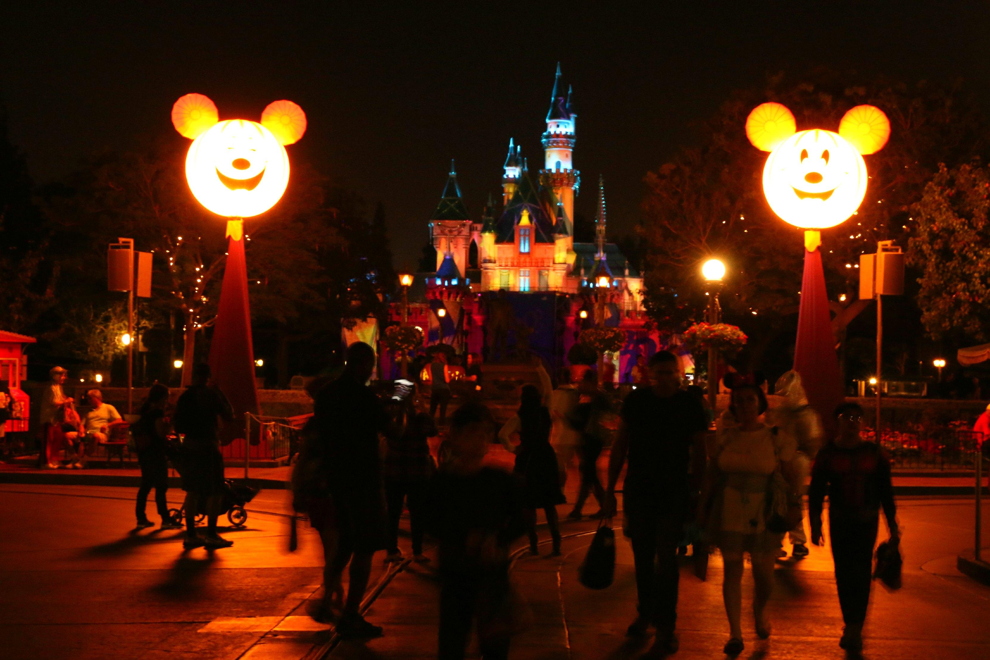 castle at disneyland halloween time