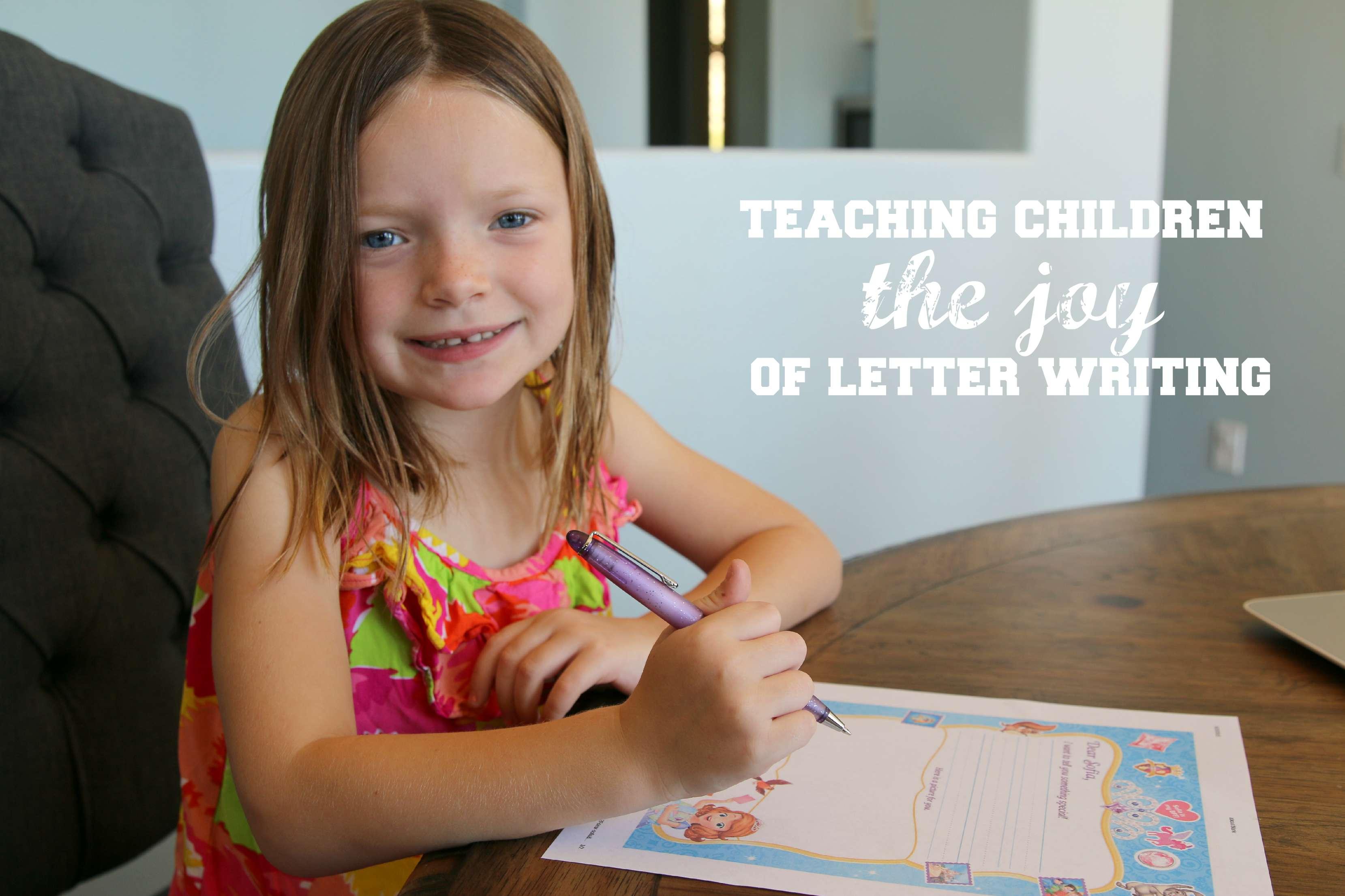 teaching children letter writing