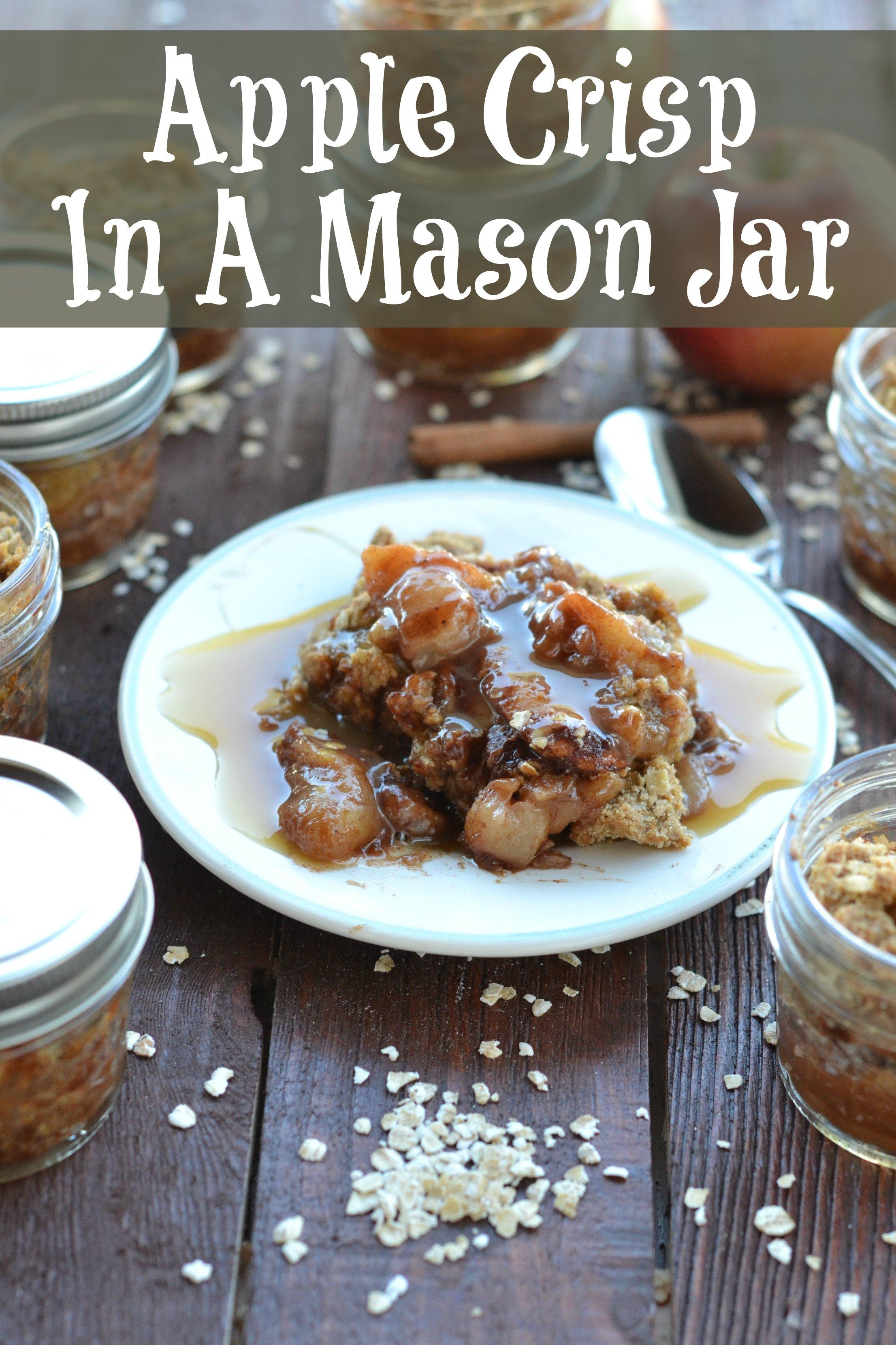 Apple Crisp In A Mason Jar