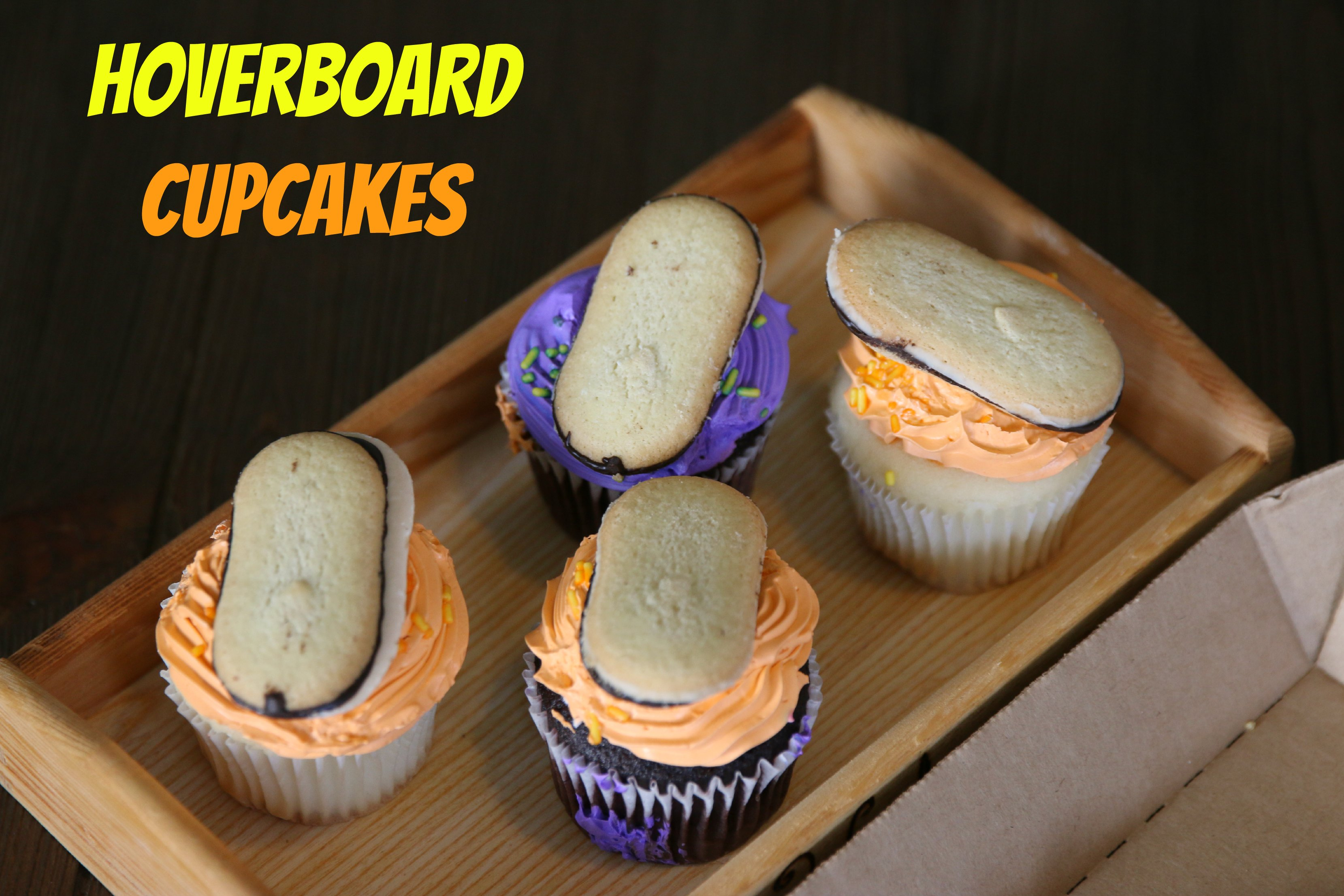 hoverboard cupcakes