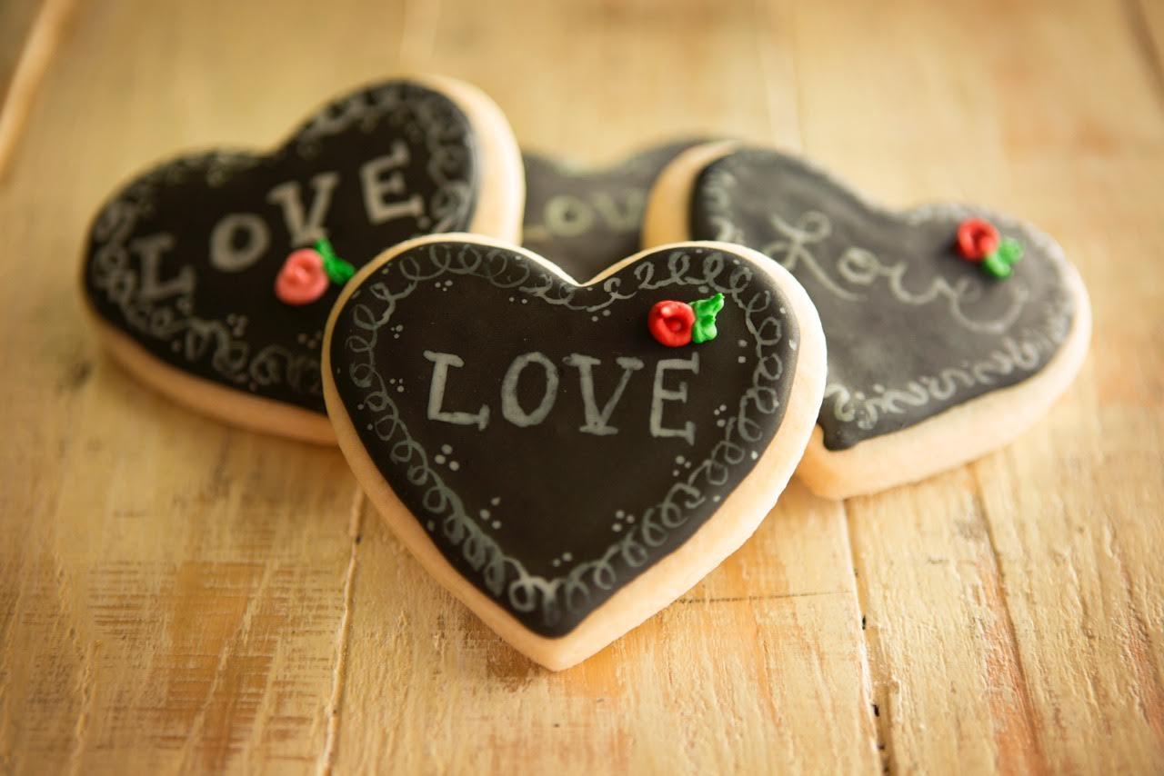 chalkboard cookies