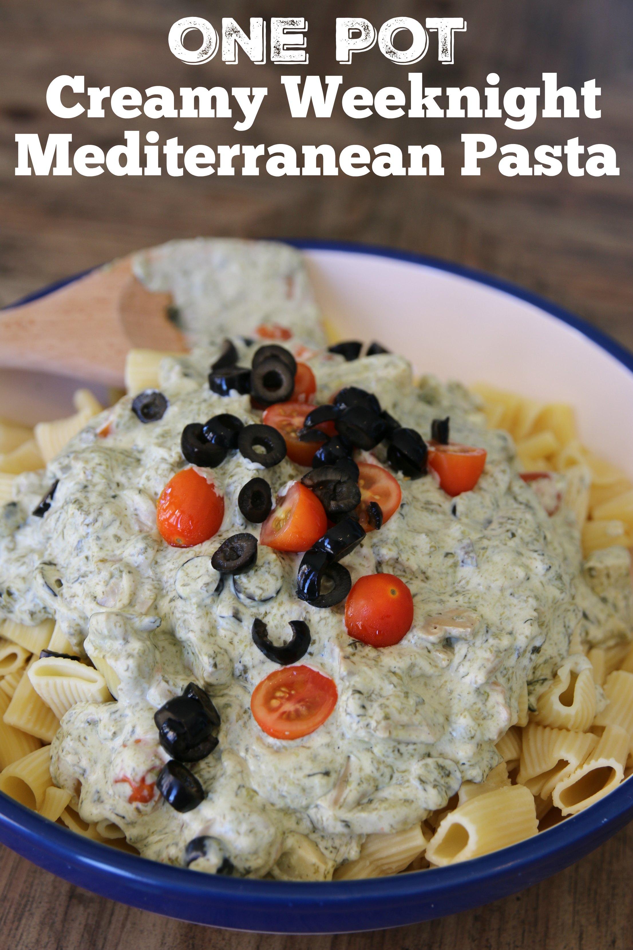 one pot Mediterranean psta