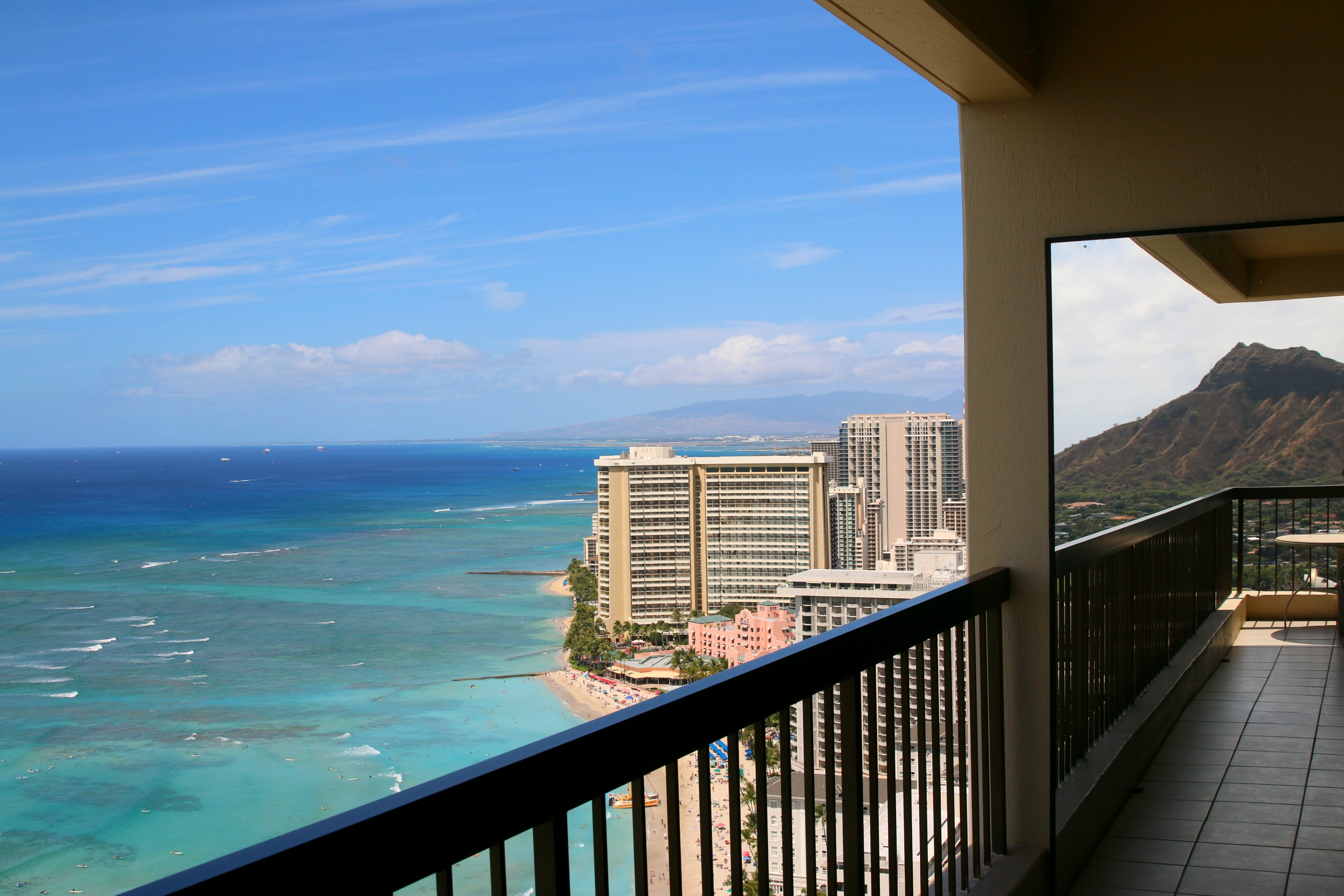 Aston Waikiki Beach Tower balcony view