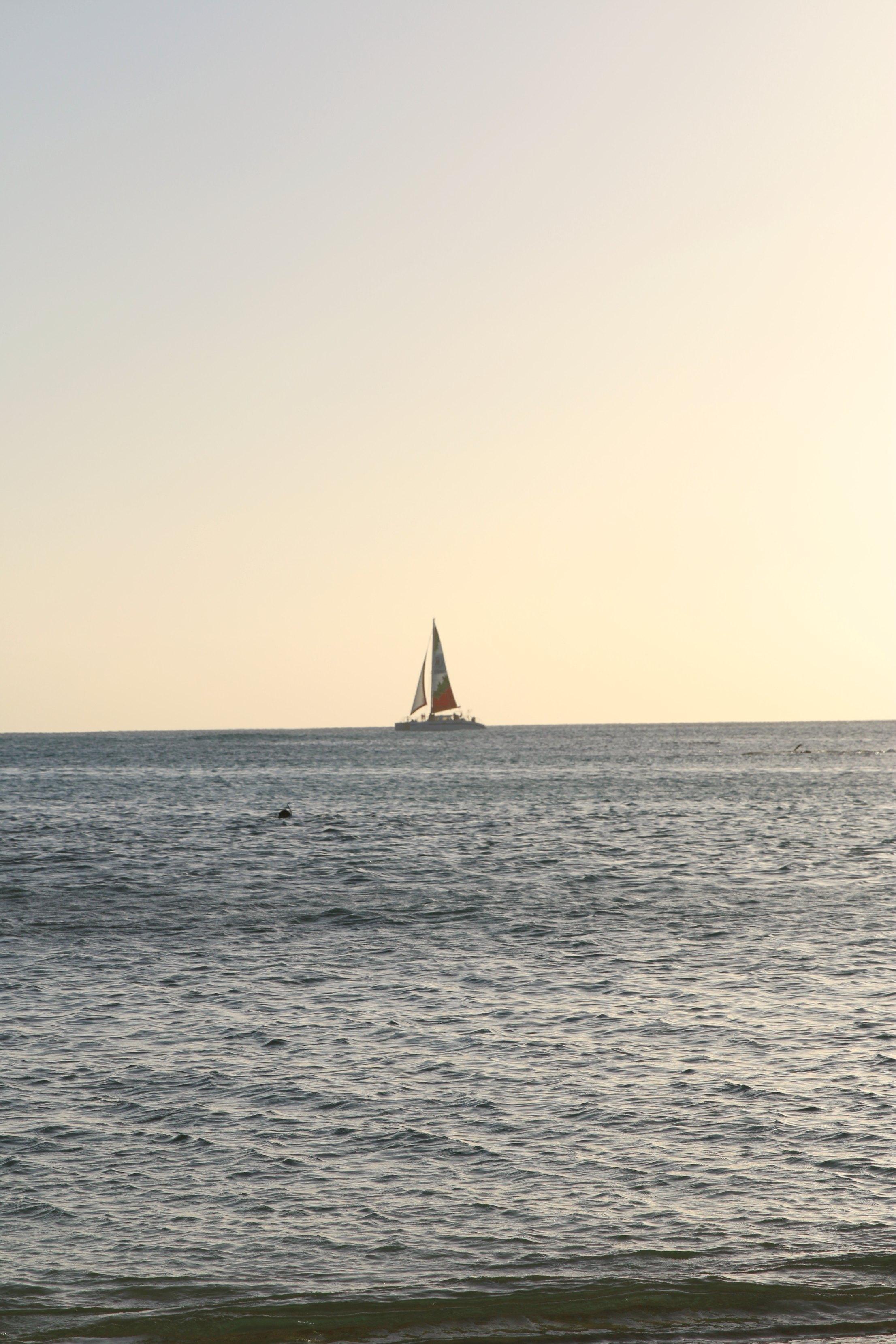 sail boat oahu