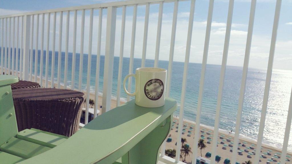coffee on balcony