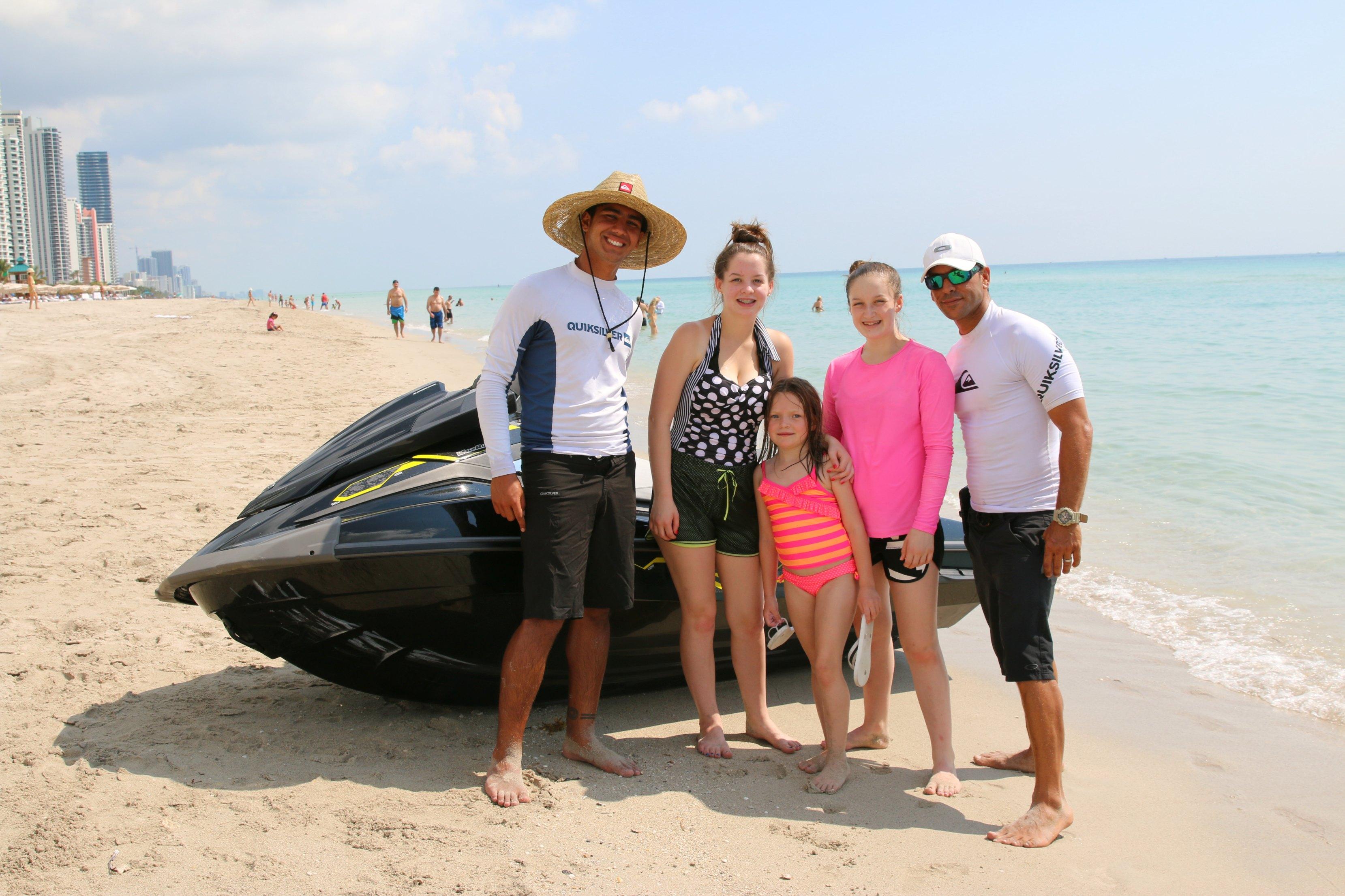 miami family jet skiing