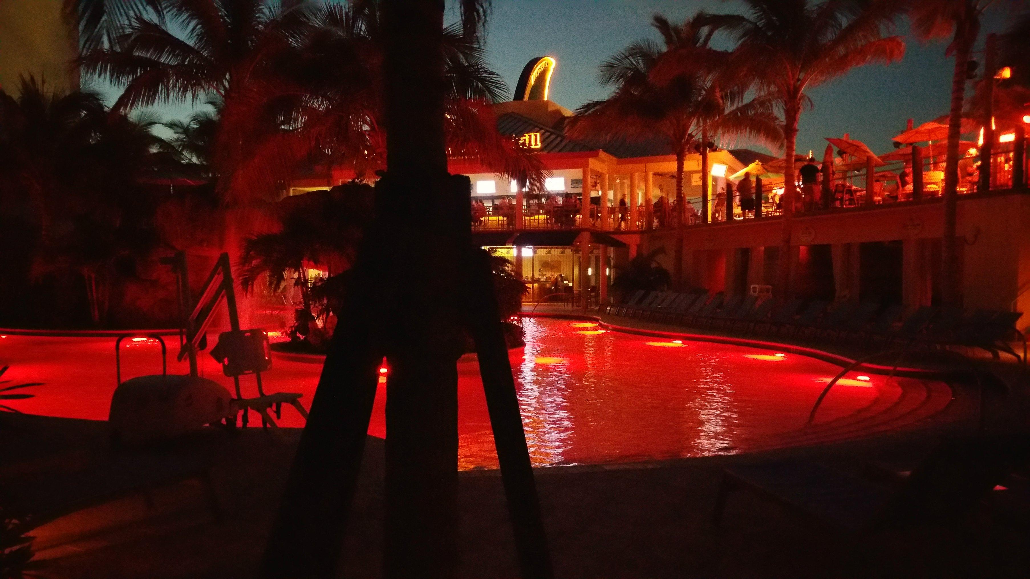 night time pools