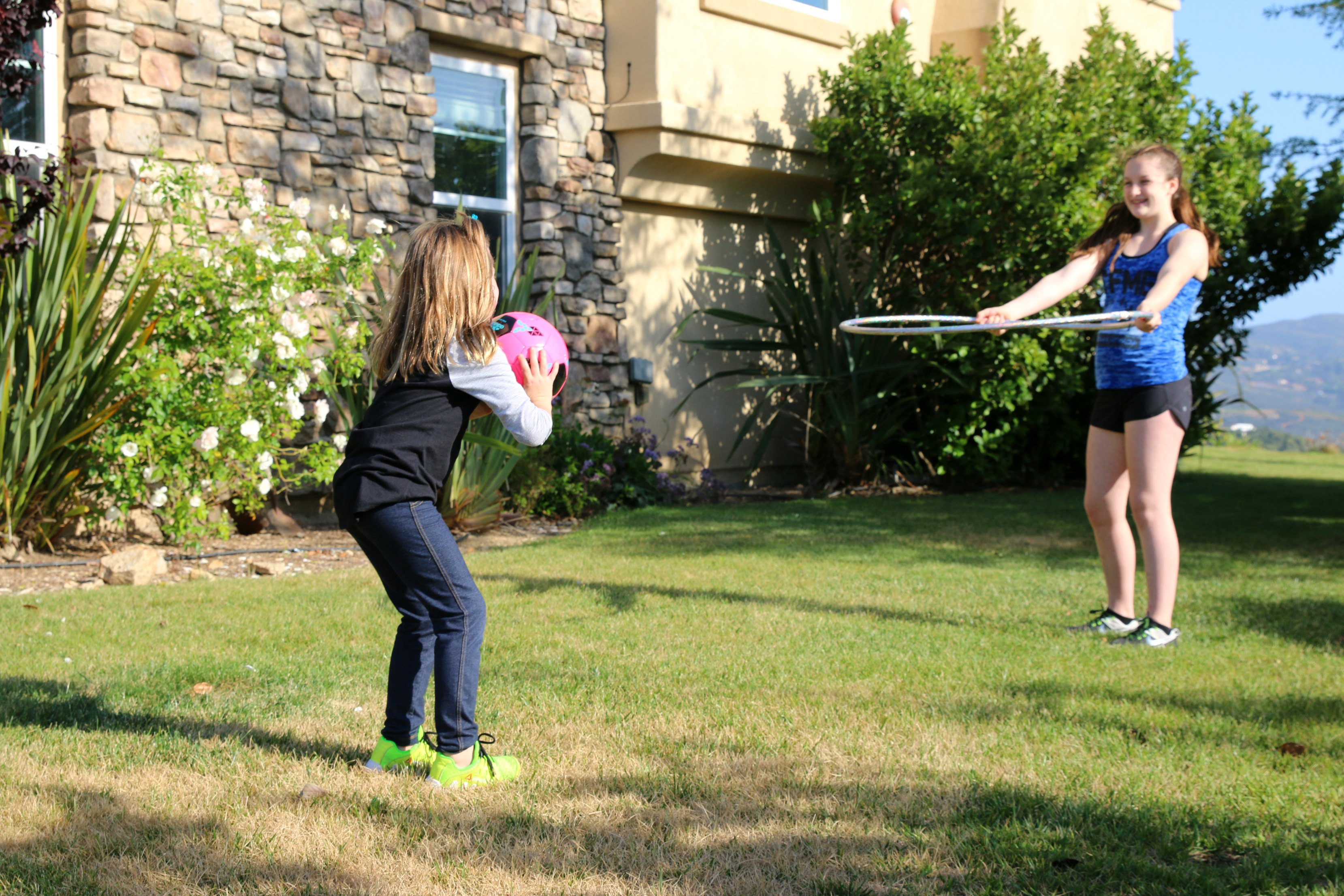 playing outdoor games