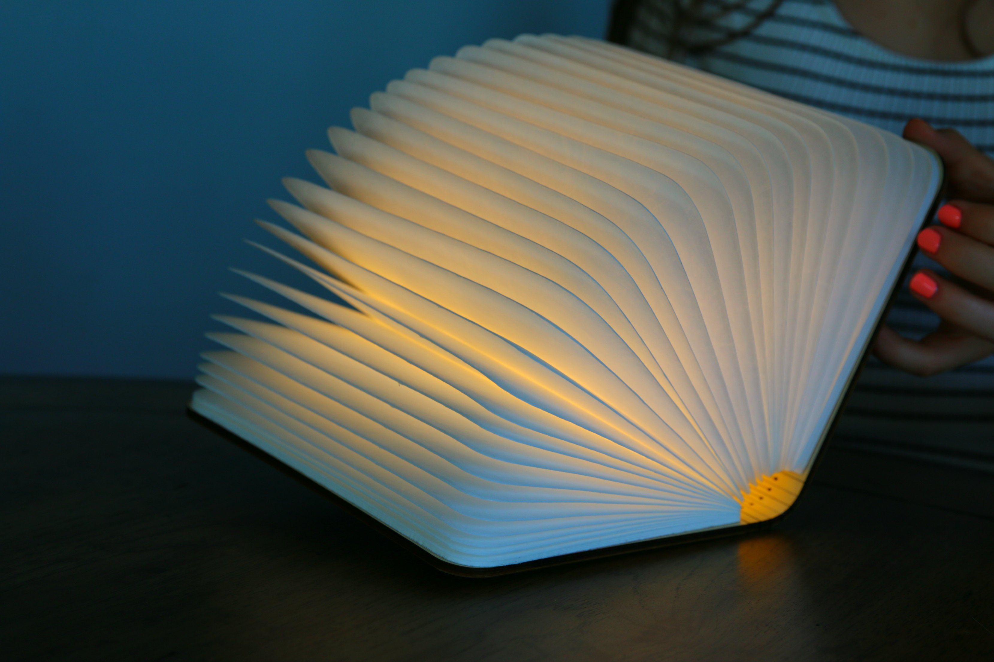 book turning into lamp
