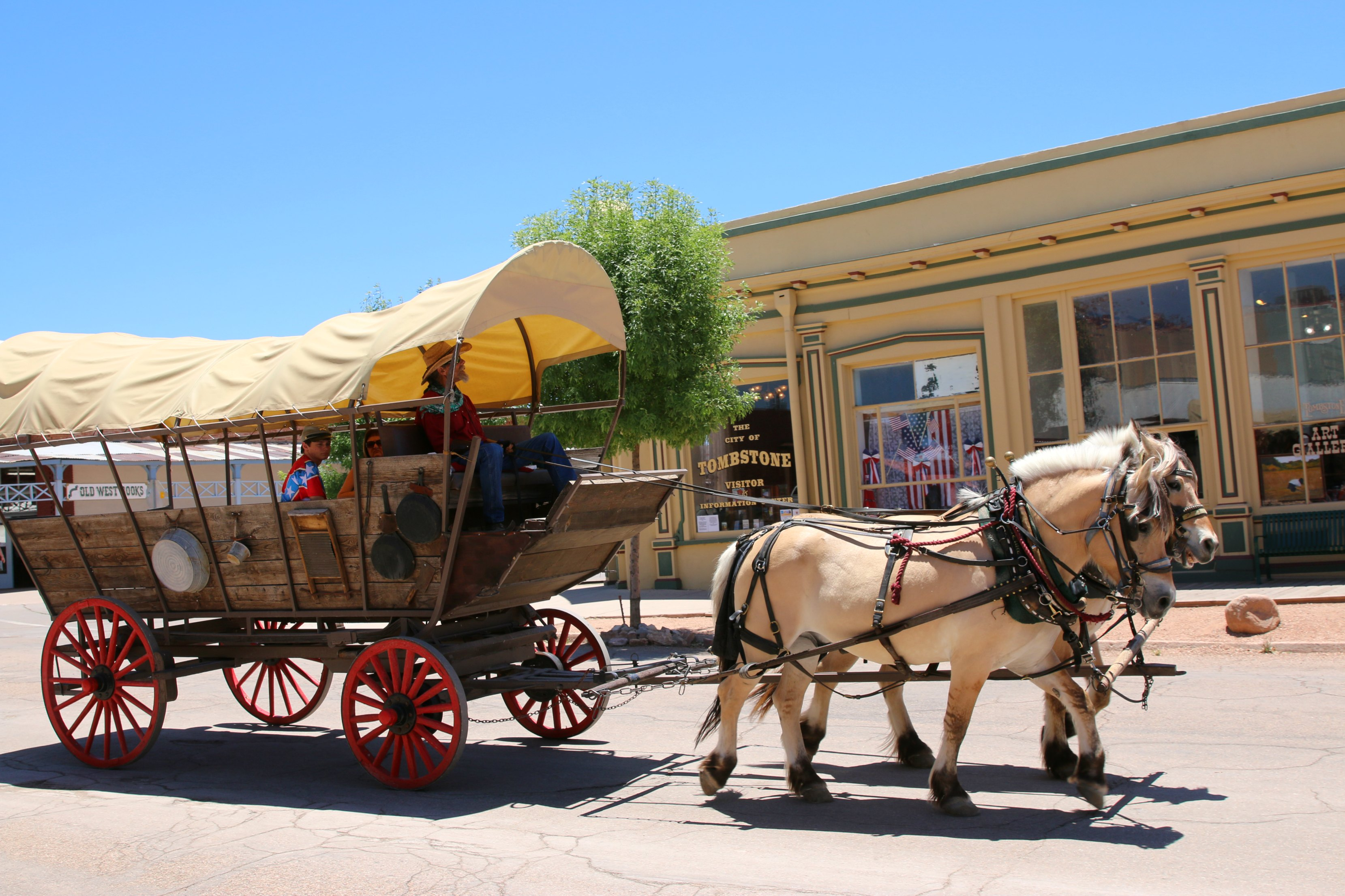covered wagon ride tombstone az