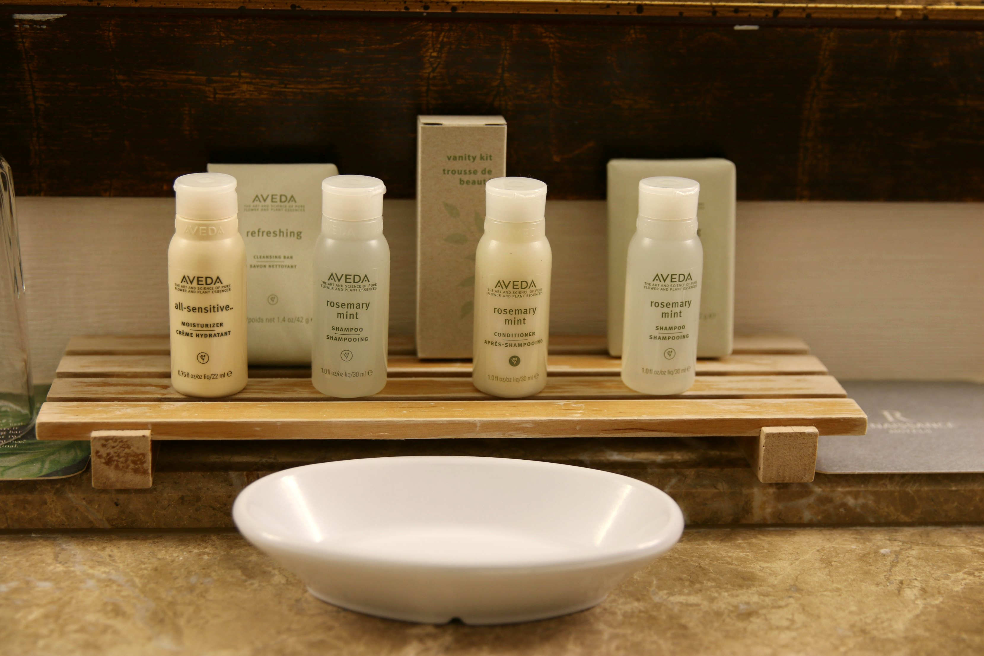 Aveda toiletries