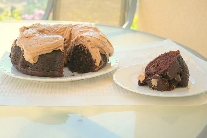 Peanut Butter and Chocolate Swirl Bundt Cake Recipe