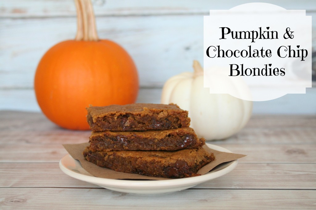 pumpkinchocolatechipblondies