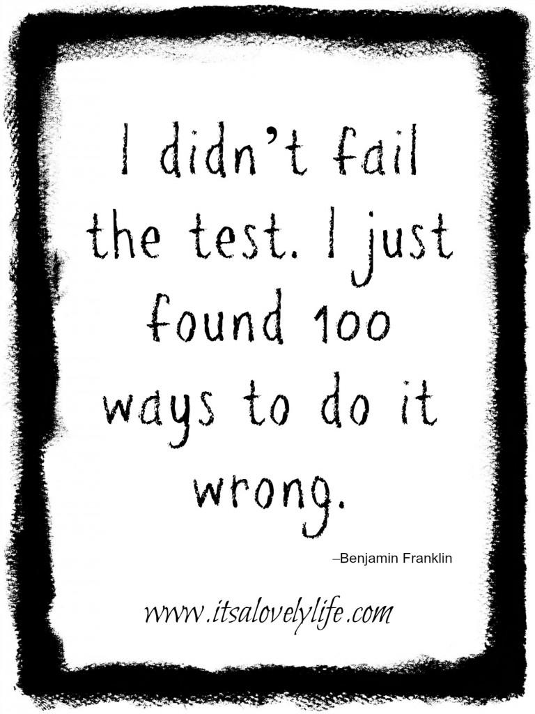 I didn't fail the test.