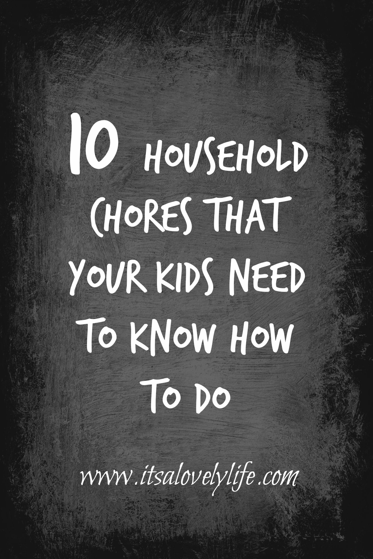 Chores your kids need to know how to do