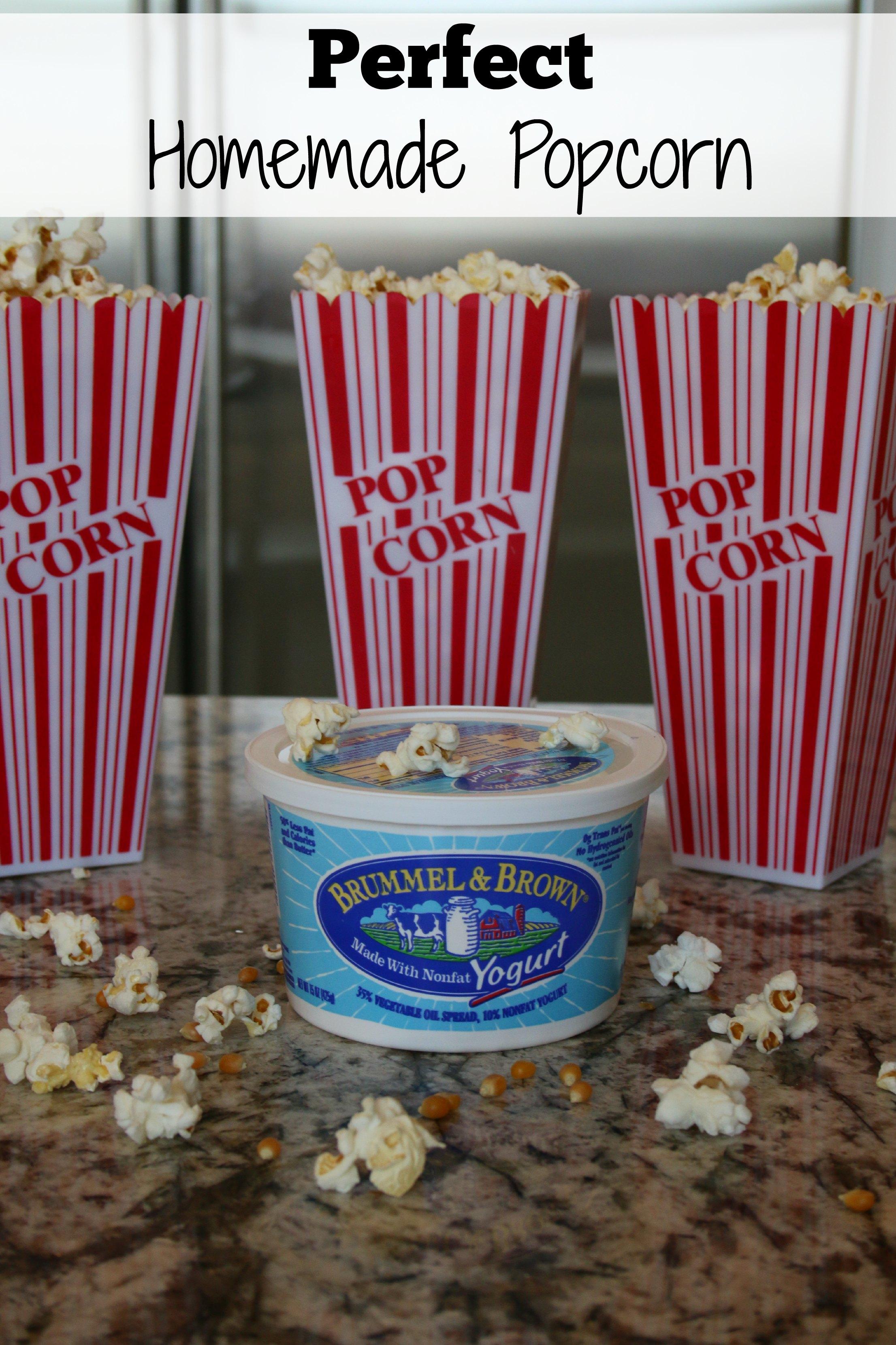 perfect homemade popcorn