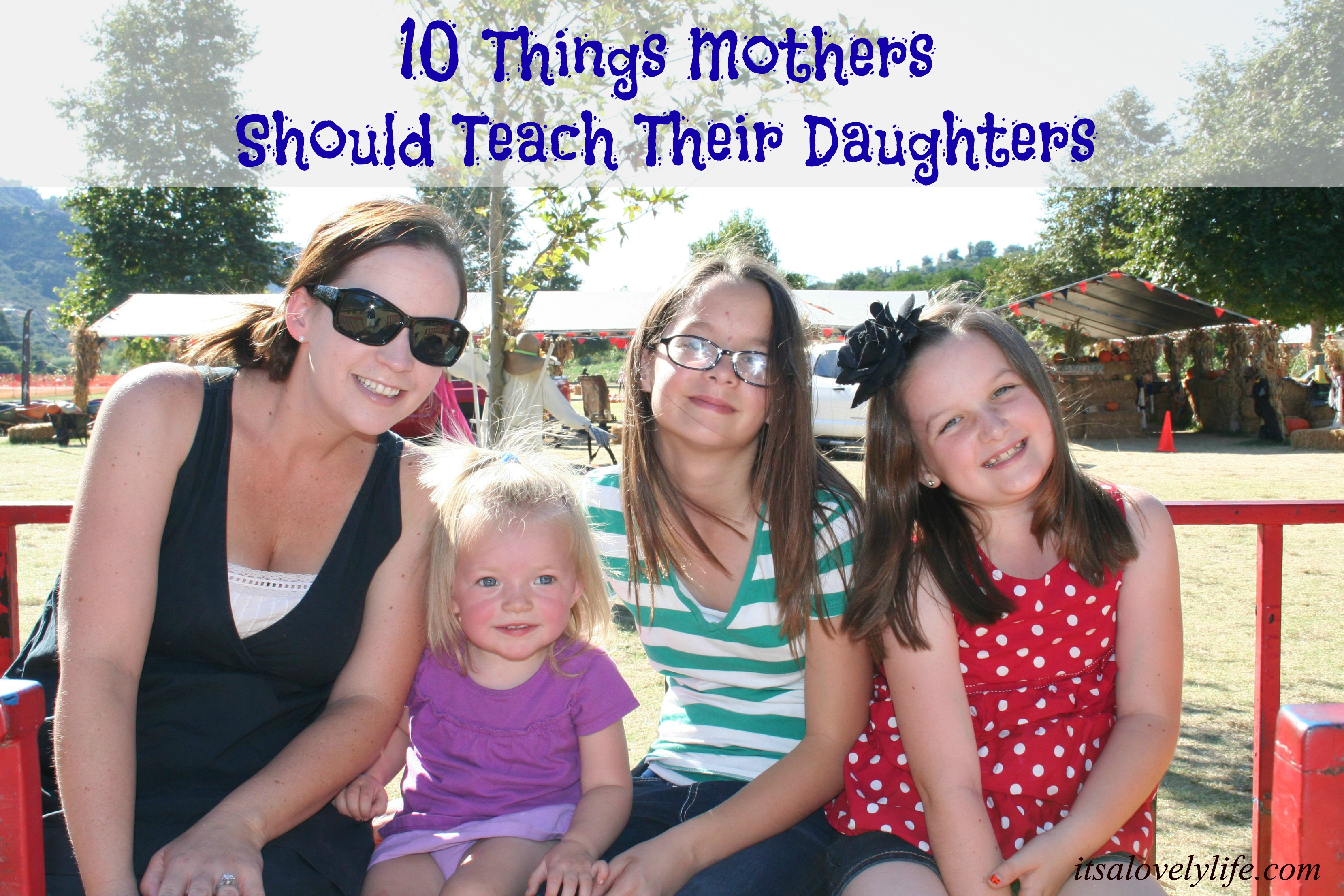 Mothers teach daughters