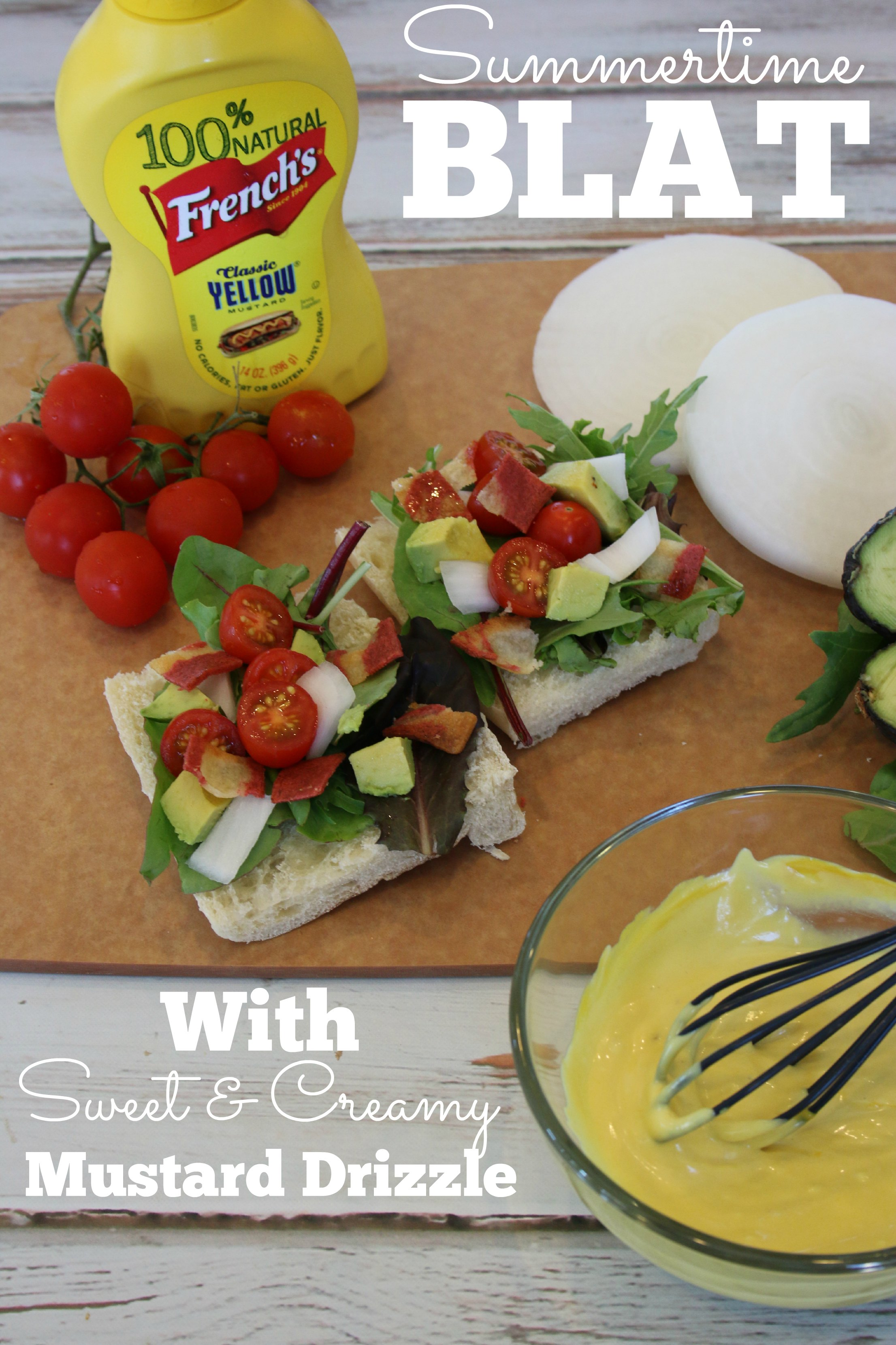 blat with mustard