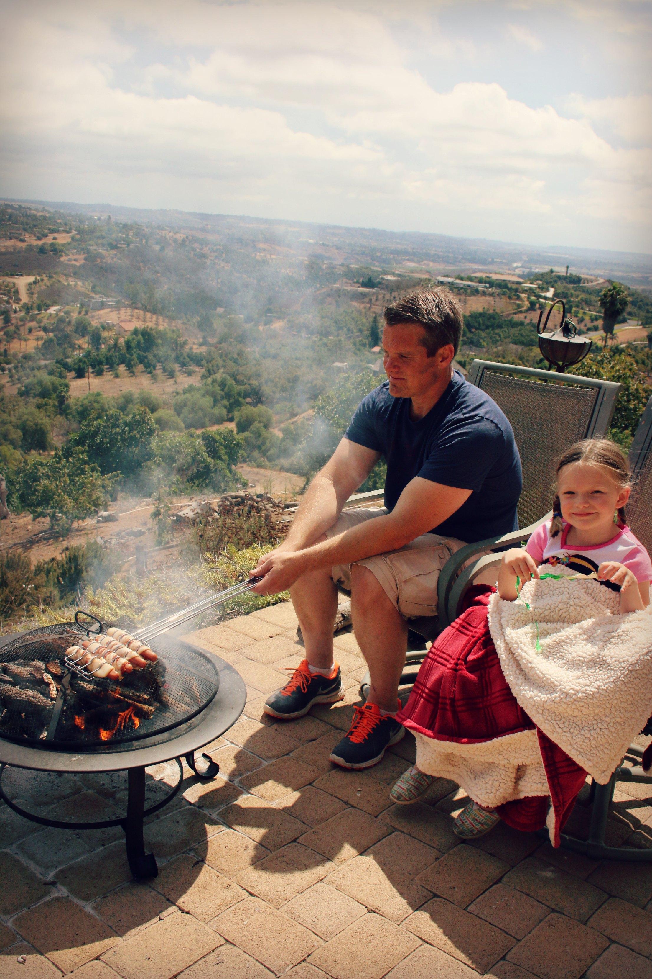 suburban camping at home