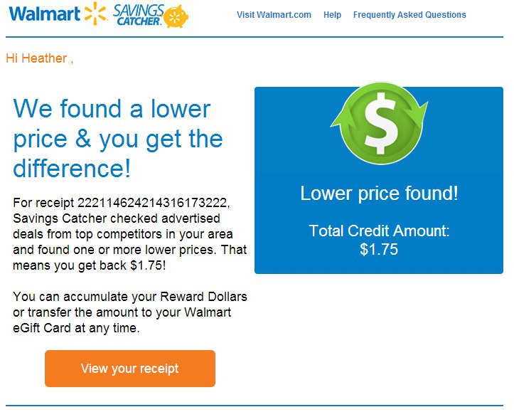 savings catcher at walmart