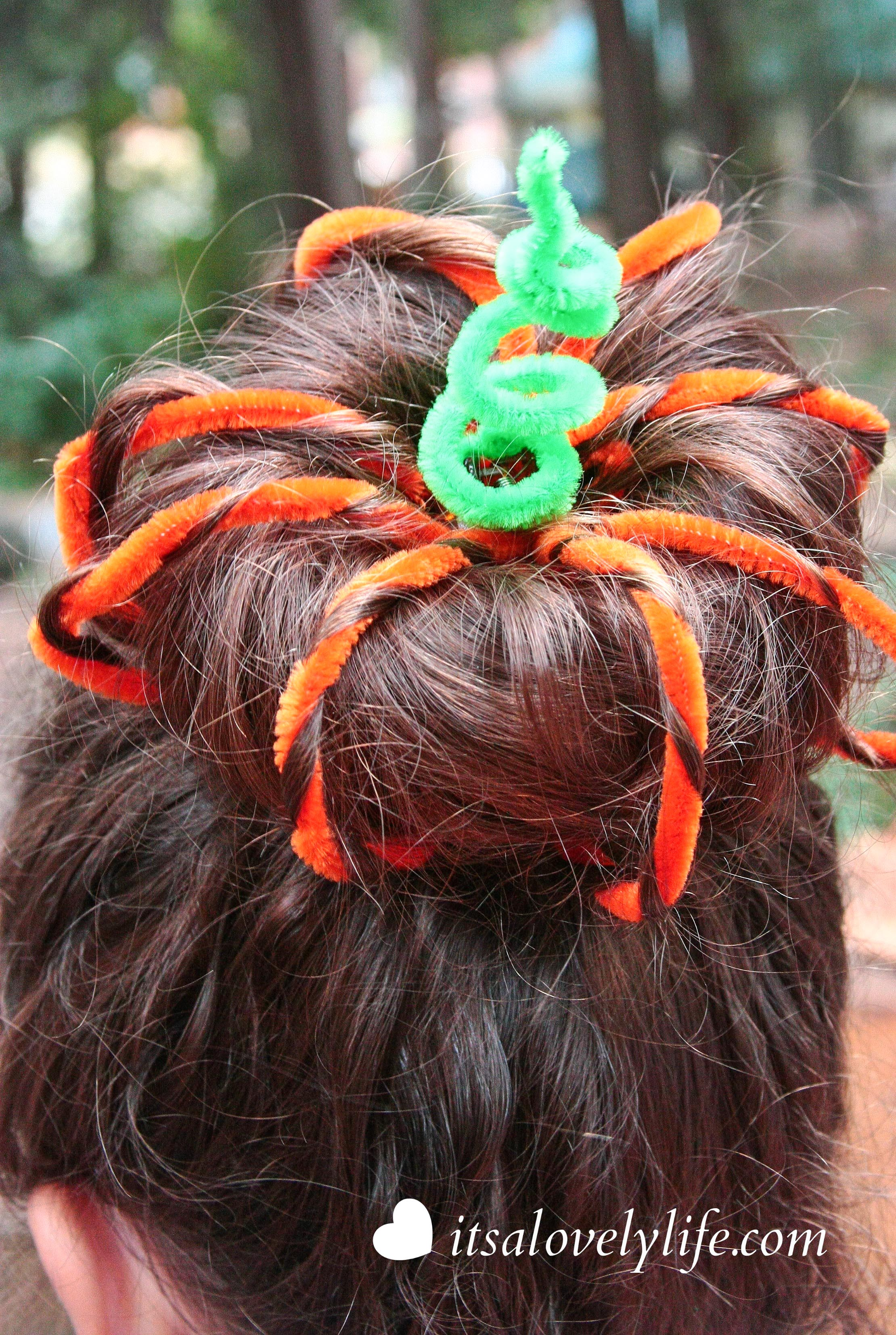 Halloween Hair Style Pumpkin Top Bun It S A Lovely Life