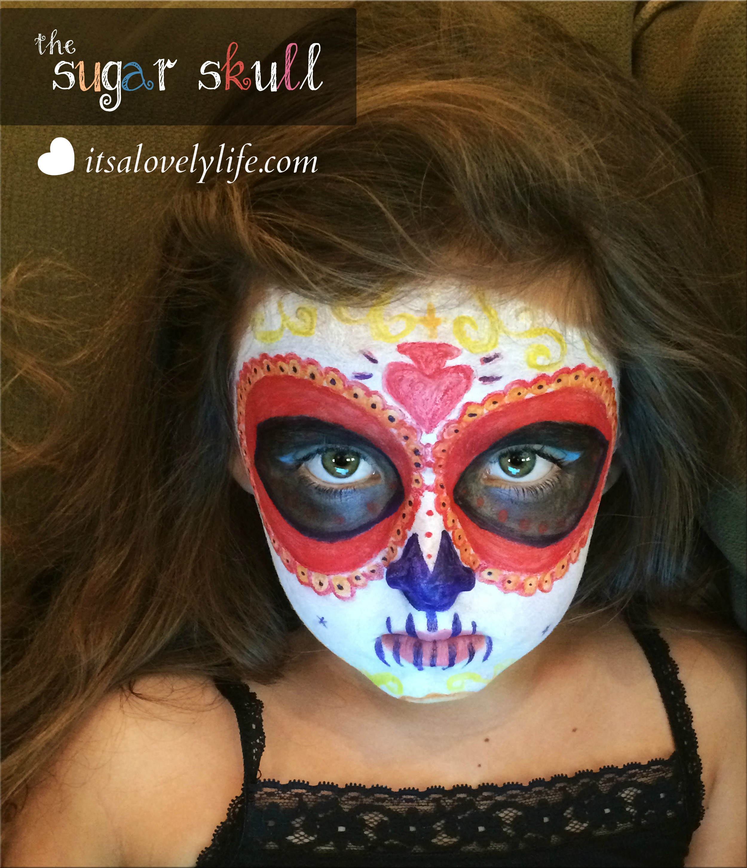 We ... & Easy Halloween Costume: The Sugar Skull u2013 Itu0027s a Lovely Life!