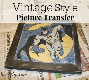 Vintage Style Picture Transfer