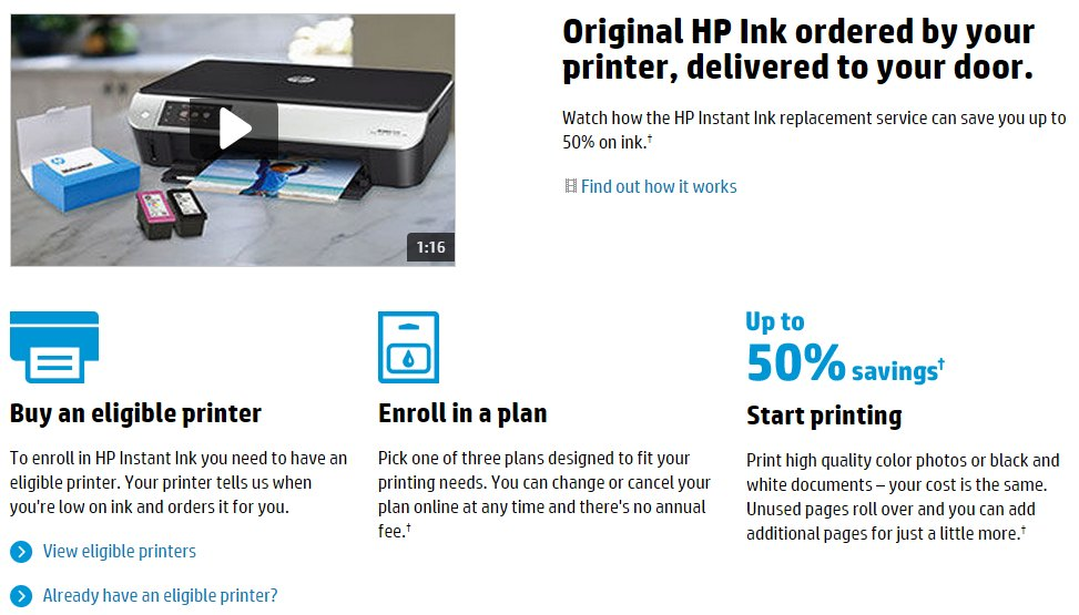 hp ink delivered automatically