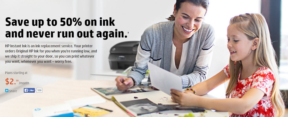 hp never run out of ink