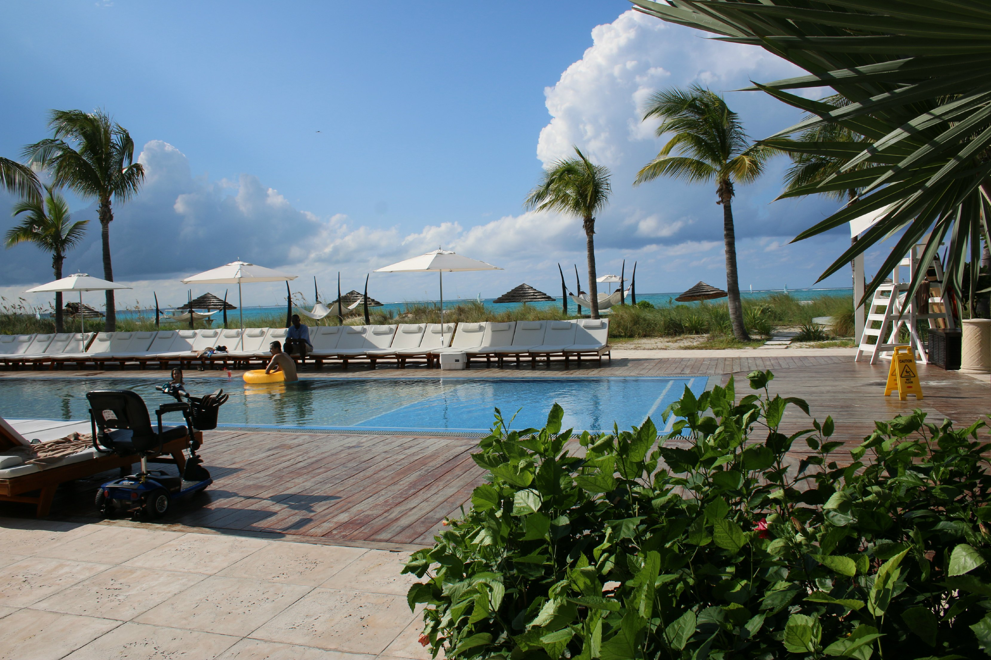 pools at beaches restorts