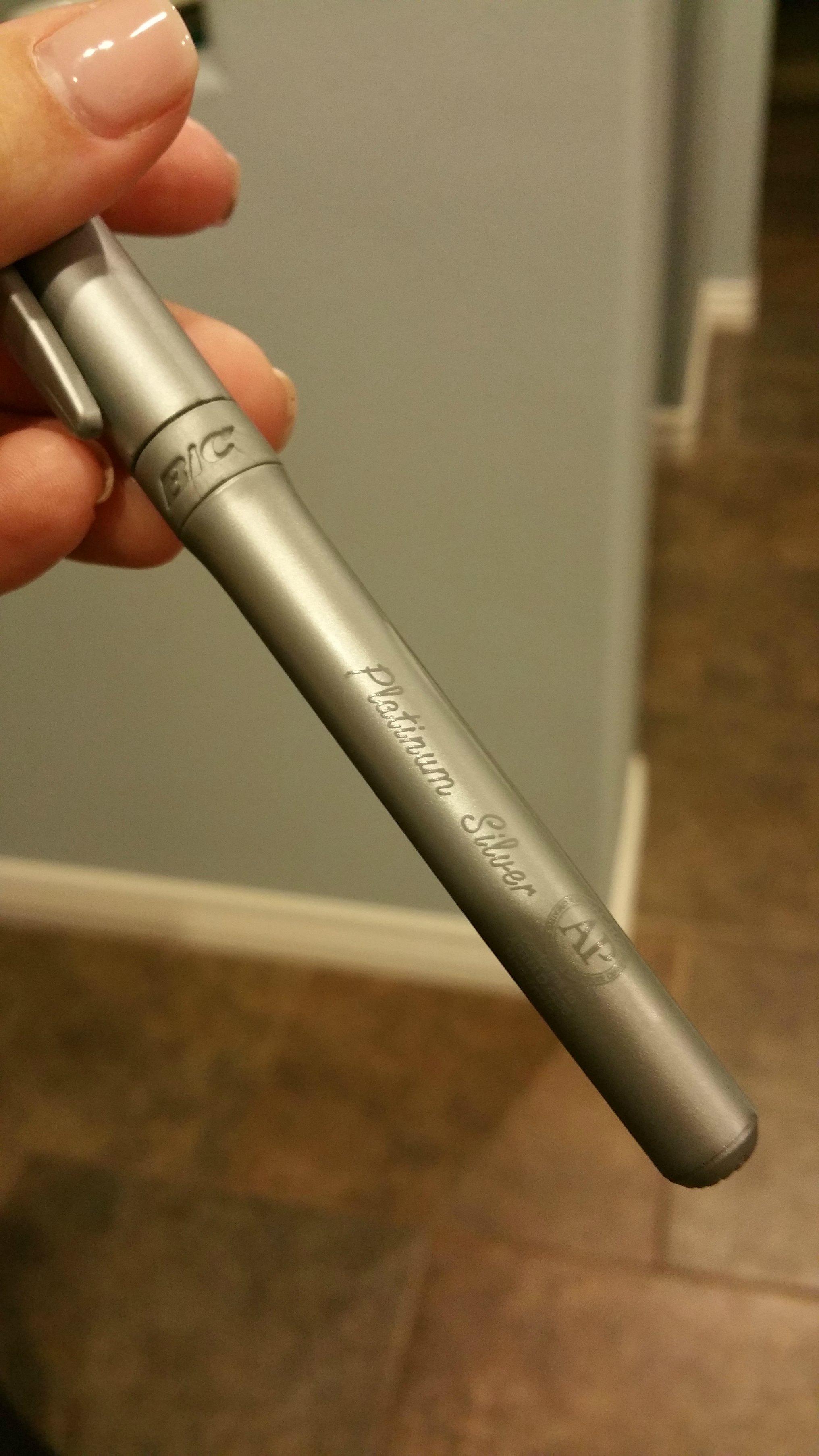 bic platinum silver marker