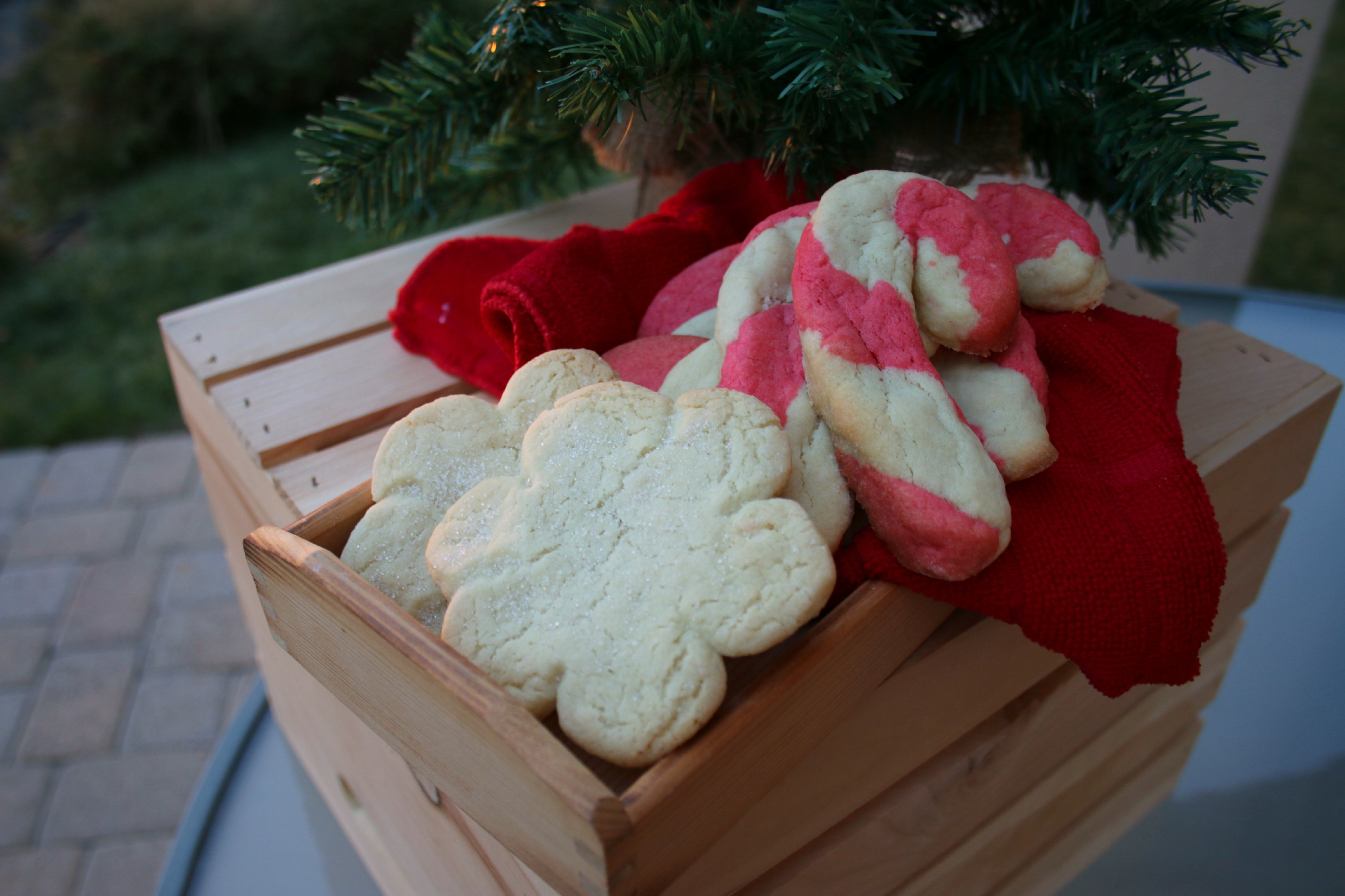 holiday cookies made with coconut oil