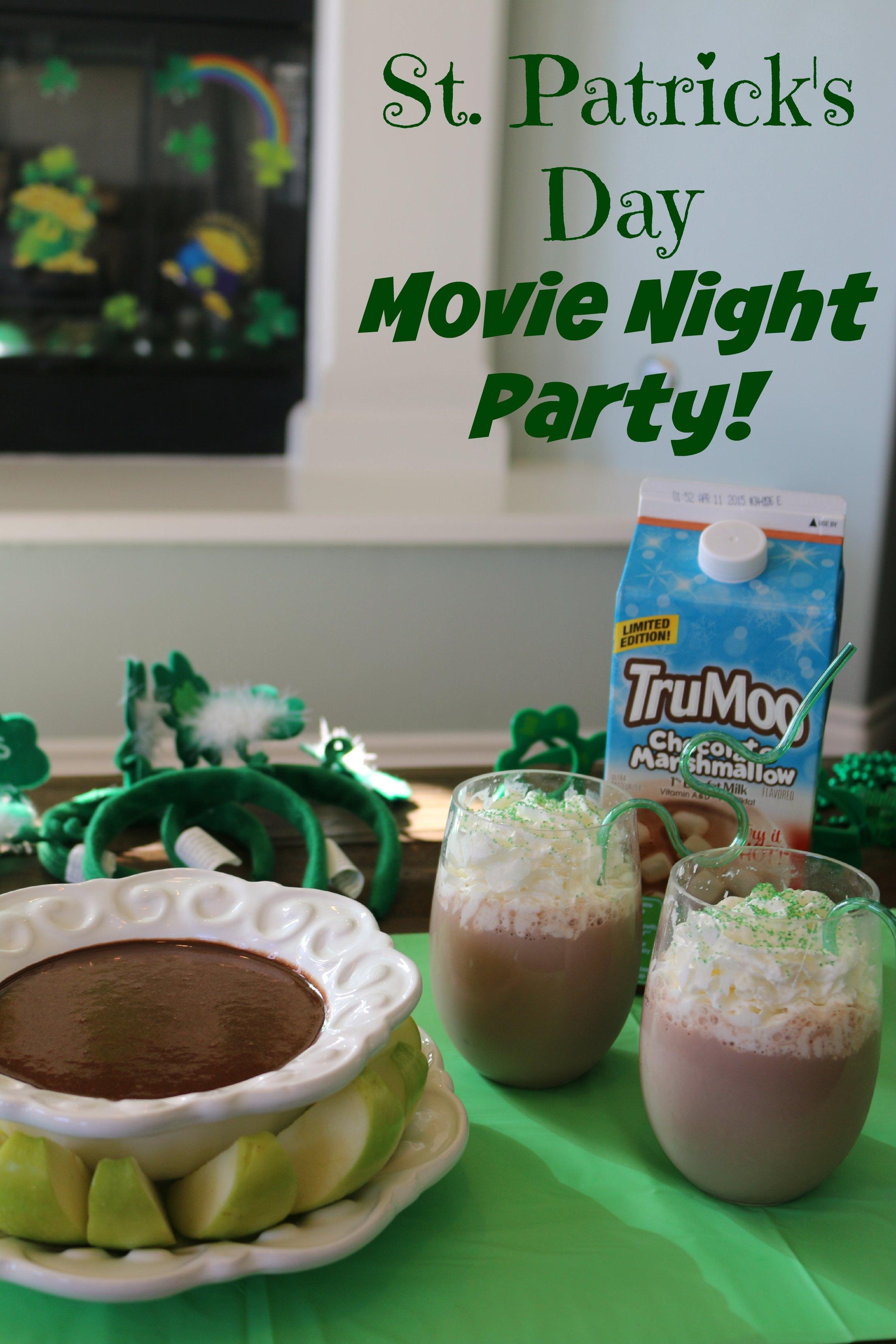 st patricks day movie night party