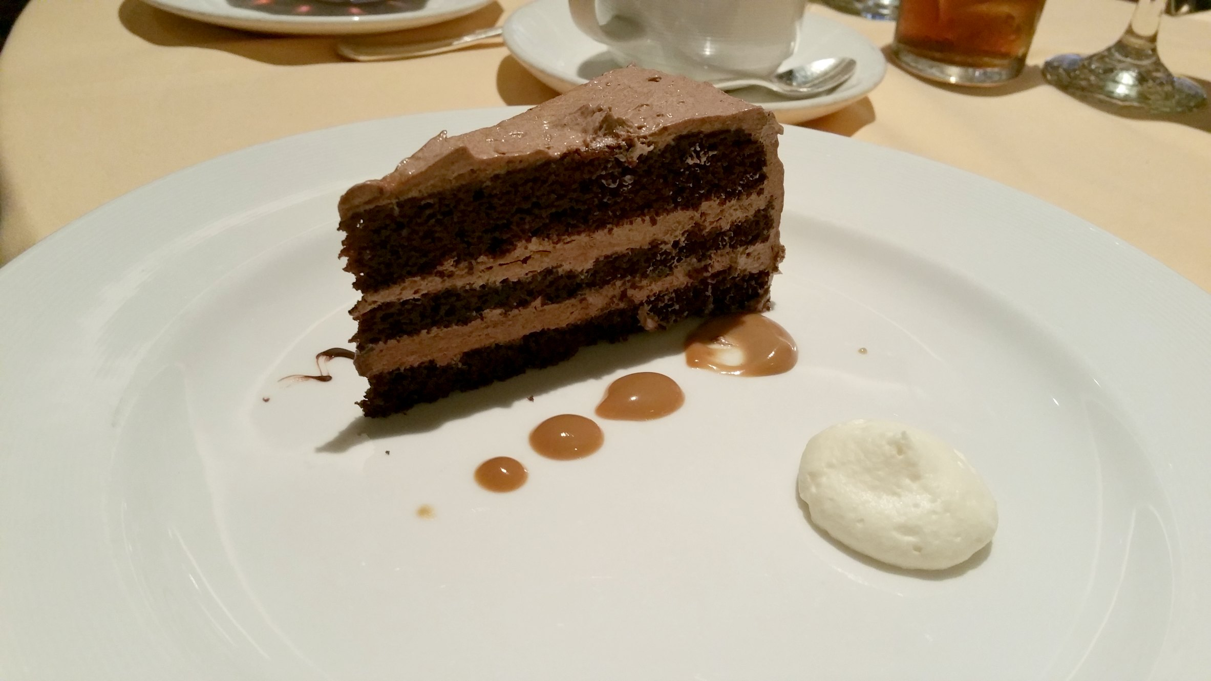 chocolate cake princess cruises