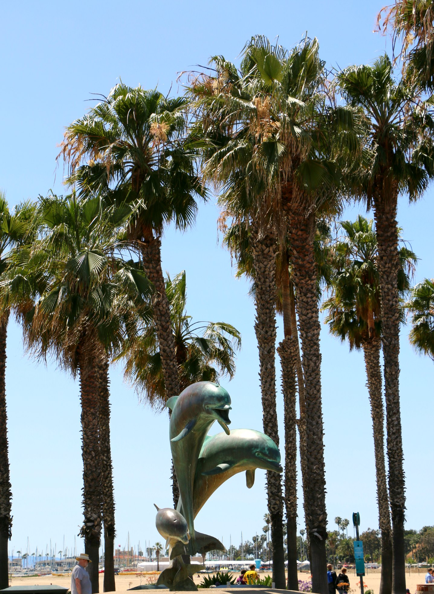 dolphin statue santa barbara