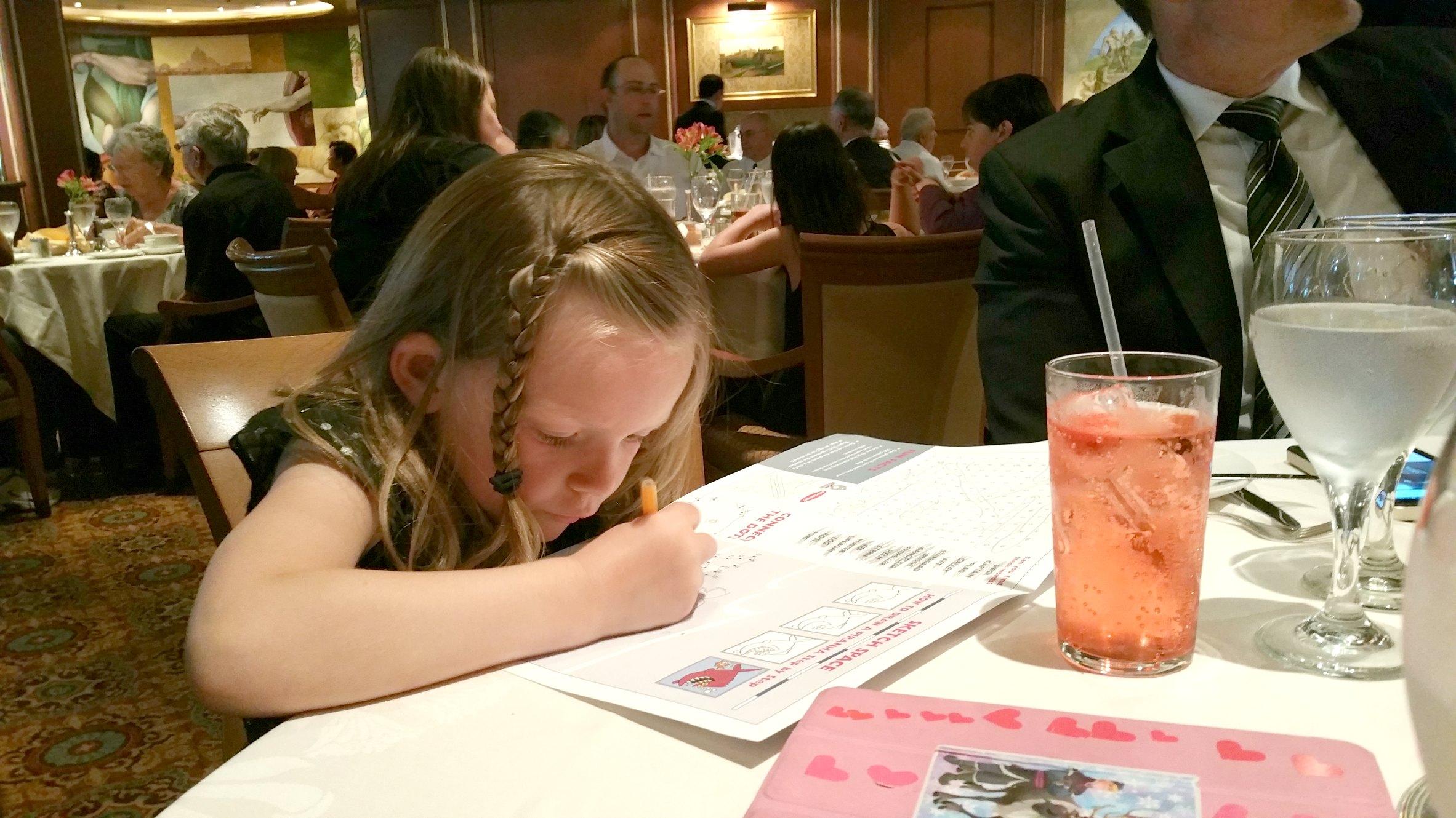 kids dinner princess cruises