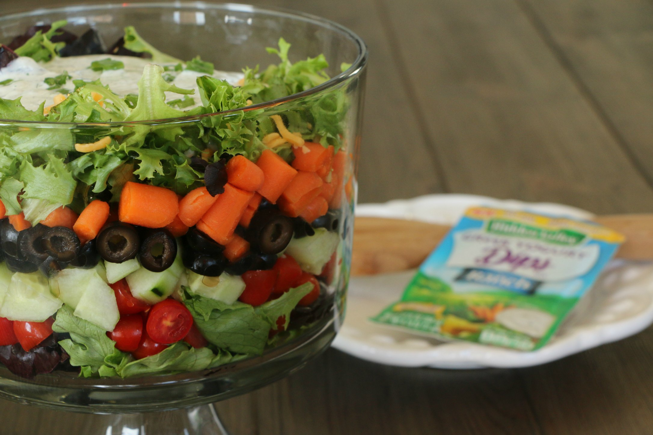 leftover vegetable tray salad