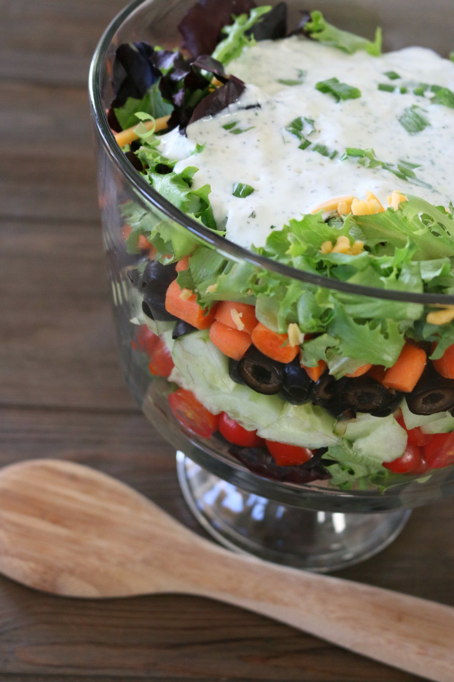 lowfat ranch dressing salad