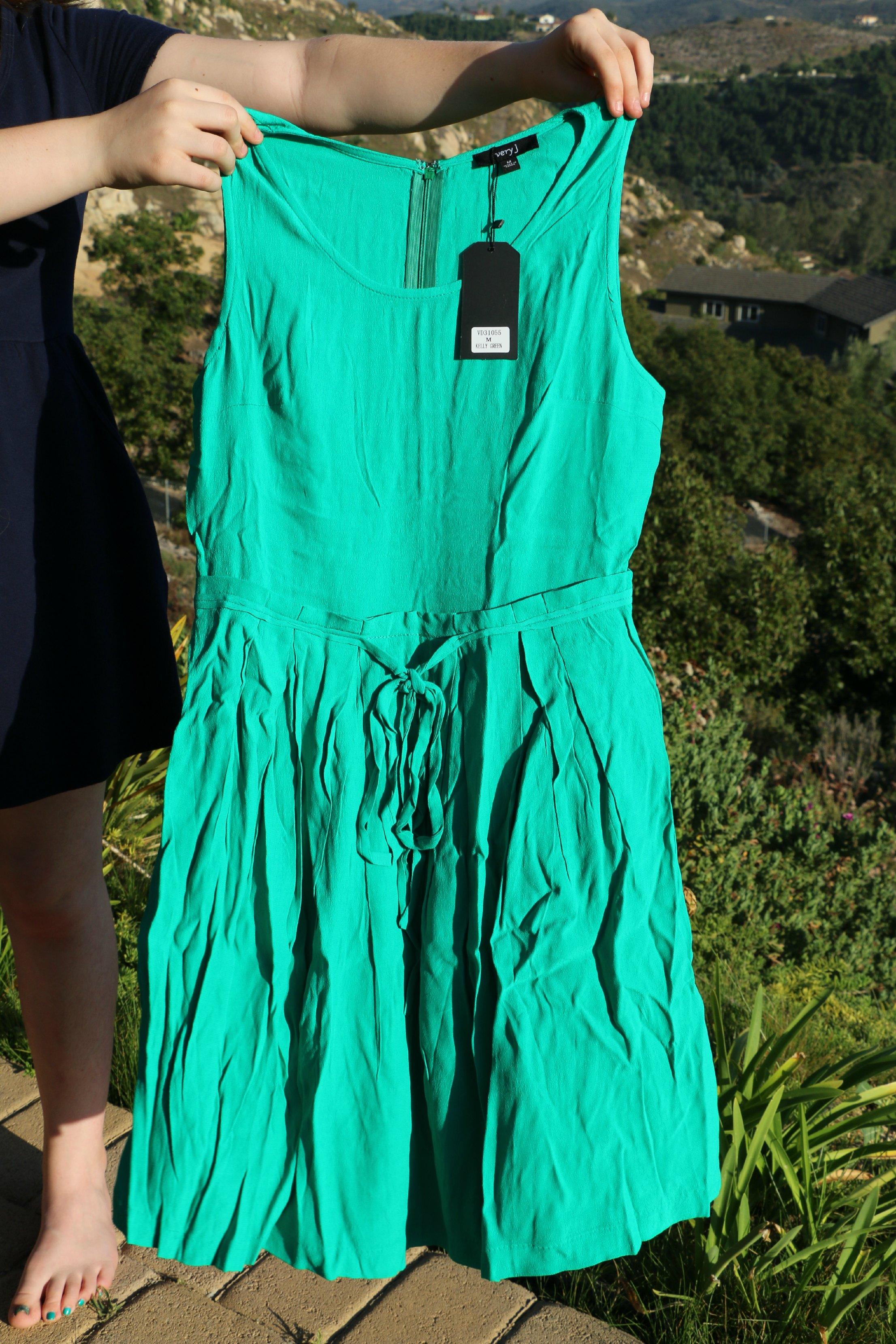 green dress goldentote