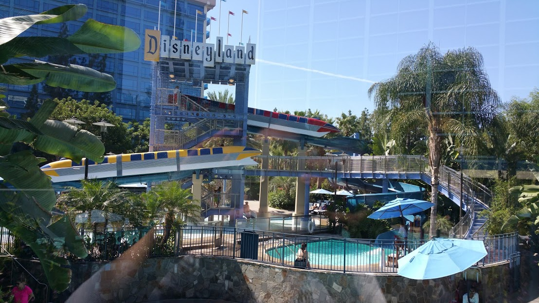 Each Tower Has A Diffe Theme And Feel To It All Are Equally Fun Our View This Time Was Over The Monorail Pool Disneyland
