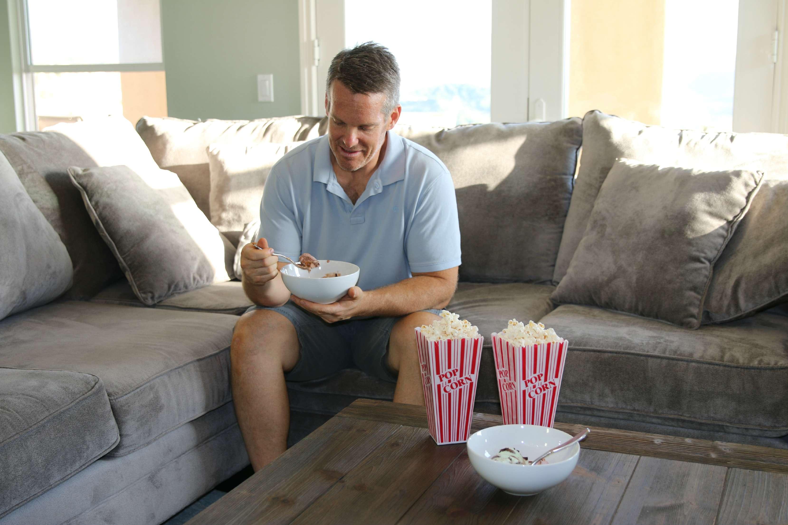 popcorn and gelato